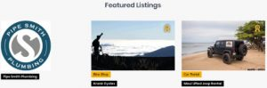 Front Page Featured Listings